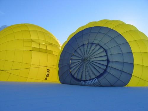Aufbau eines Heißluftballons